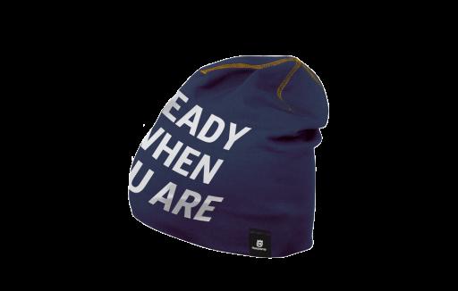"""Fan Mütze blau """"Ready when you are"""" blau"""